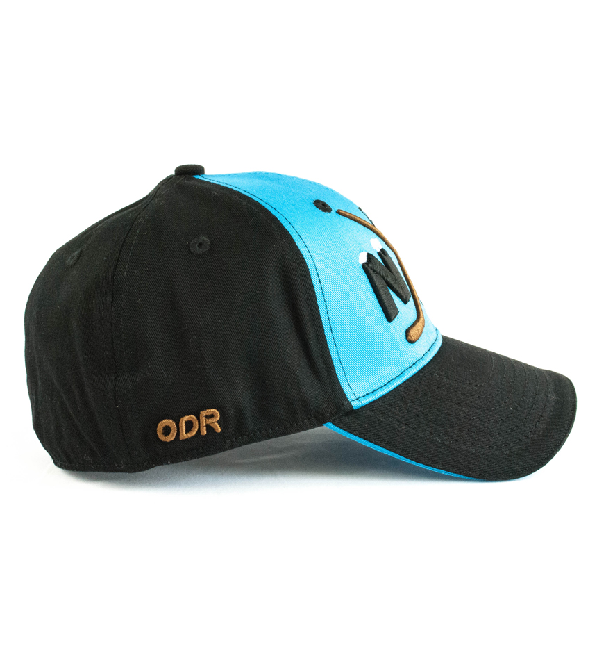 "Blue/Black Hat NiceRink ""Crossed Sticks"" ODR"