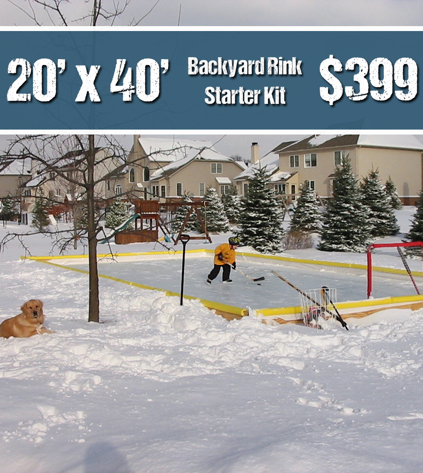 Nicerink 20' x 40' Rink-In-A-Box (CANADA Shipping) by NiceRink