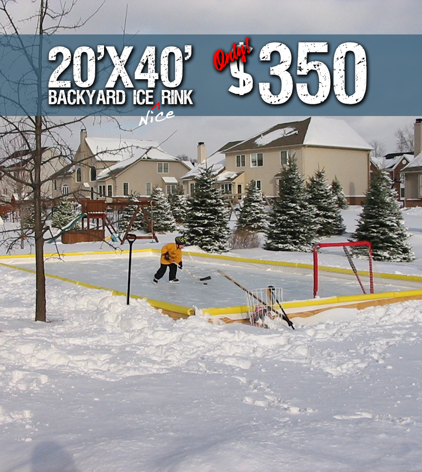 Nicerink 20 X 40 Rink In A Box Us Shipping Nicerink